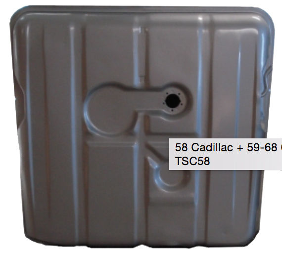 Parts -  1958 Cadillac Gas Tank, Also Fits 1959-68 Comercial Body (Limo, Hearse)