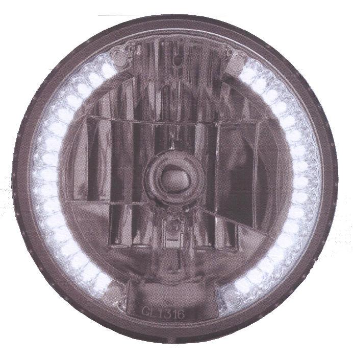Street Rod Turn Signal Lights : Street rod parts headlight halogen h with white led