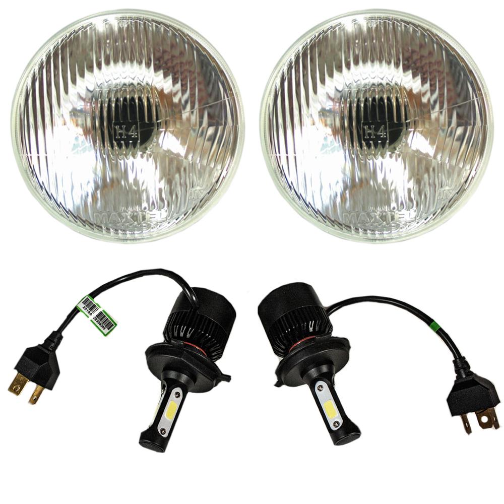 Street Rod Parts 187 Led Headlight Kit 7 Inch 12v