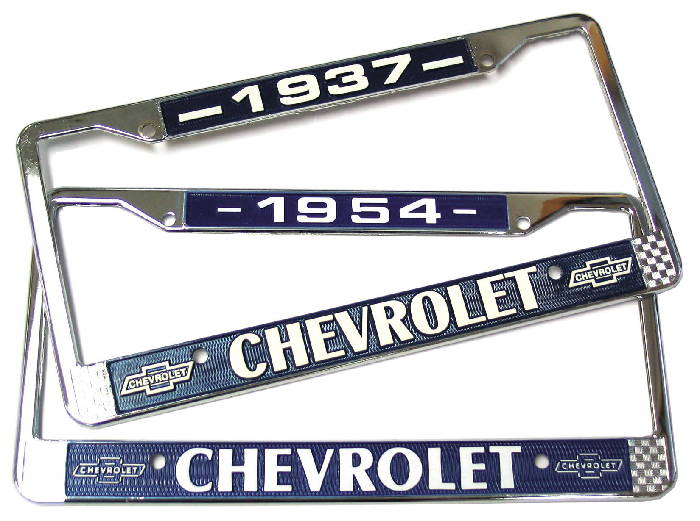 Street Rod Parts » Chevrolet License Plate Frame - Year On Top ...
