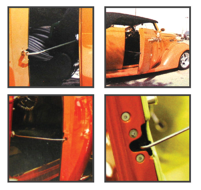Street Rod Parts Door Prop Kit Bear Claw - Car show door prop rod