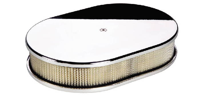 Street Rod Air Cleaners : Street rod parts air cleaner billet small oval smooth