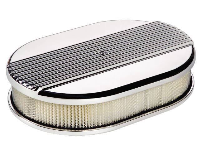 Street Rod Air Cleaners : Street rod parts air cleaner billet small oval ribbed