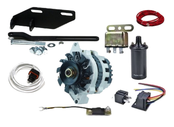 Street Rod Parts  U00bb 12 Volt 63 Amp Conversion Kit For Foot