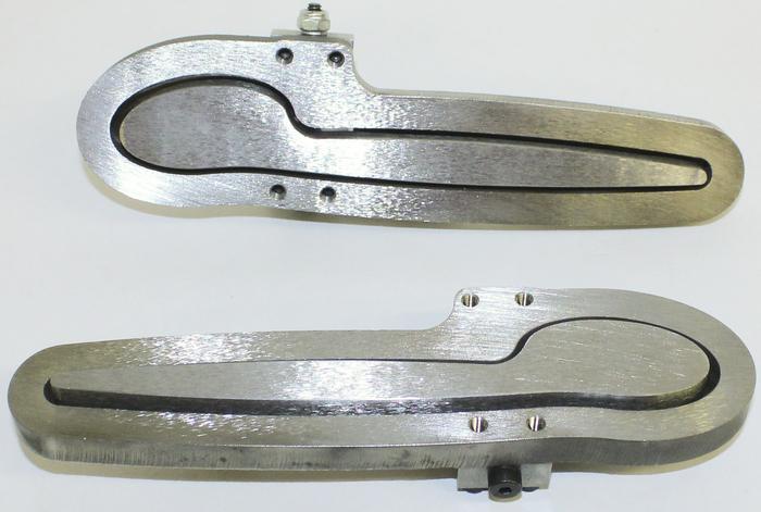 Custom Car Door Handles street rod parts » door handle set, exterior -spoon style in bare