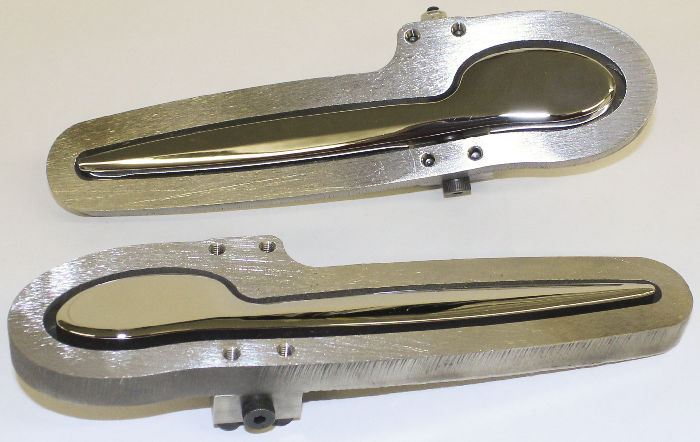 Street Rod Parts Door Handle Set Exterior Spoon Style In Chromed