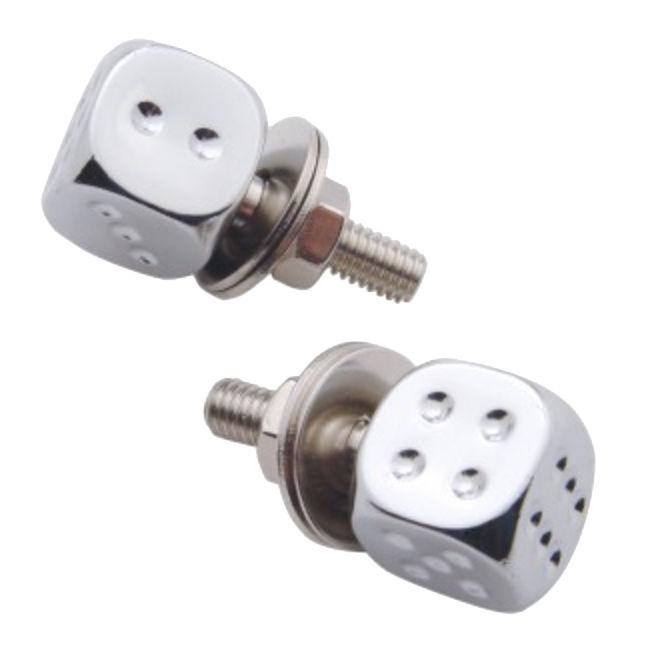 Set of 2 Amber LED Bullet License Fastener License Plate Fasteners Hot Rod