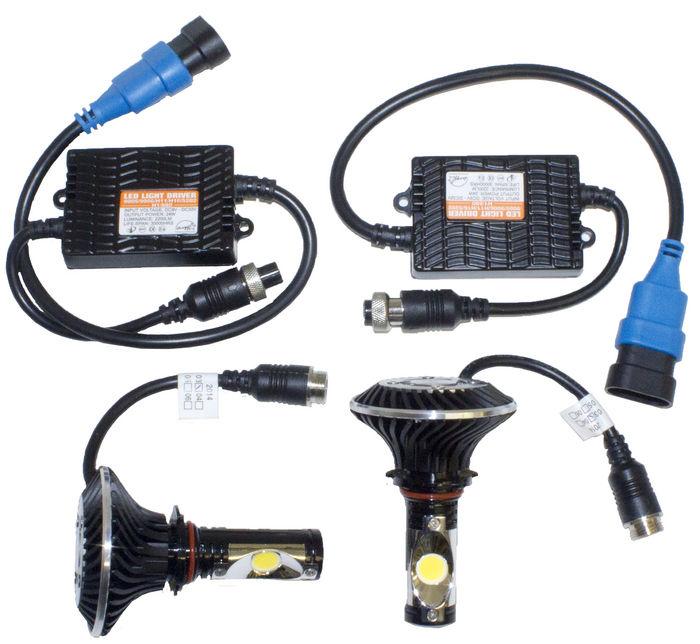 Headlight Kit Street Rods : Street rod parts single beam led headlight kit