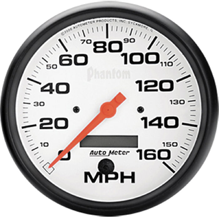 Auto Meter Electronic Speedometers : Street rod parts instrument gauges auto meter phantom