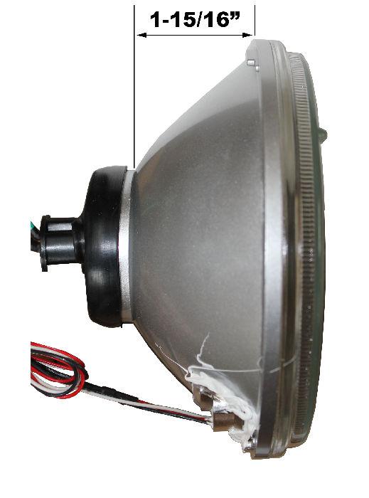 Street Rod Turn Signal Lights : Street rod parts headlight halogen bulb with amber led