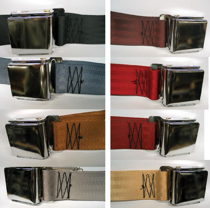 Street Rod Parts 187 Seat Belt Lap Belt With Chrome