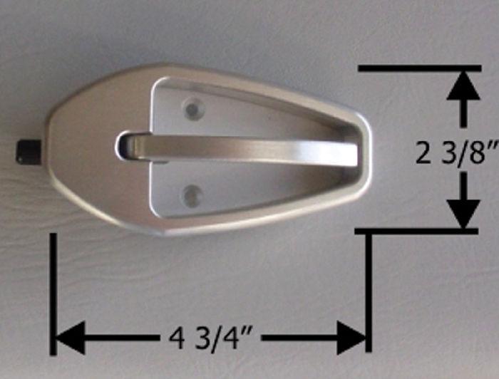 Parts   Door Handles, Interior  Small, Satin Finish Billet