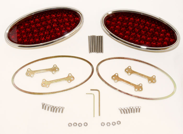 Street Rod Parts 187 Tail Light Led Lokar Billet Oval