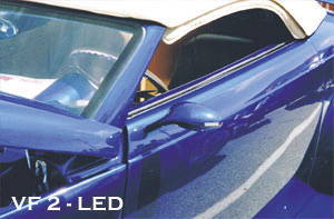 Street Rod Parts 187 Rear View Mirror Led Oval Custom Side