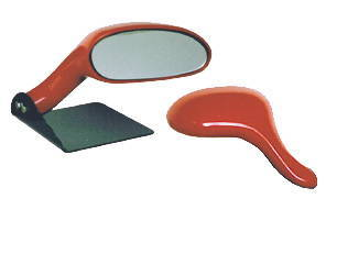 street rod parts rear view mirror large oval custom. Black Bedroom Furniture Sets. Home Design Ideas
