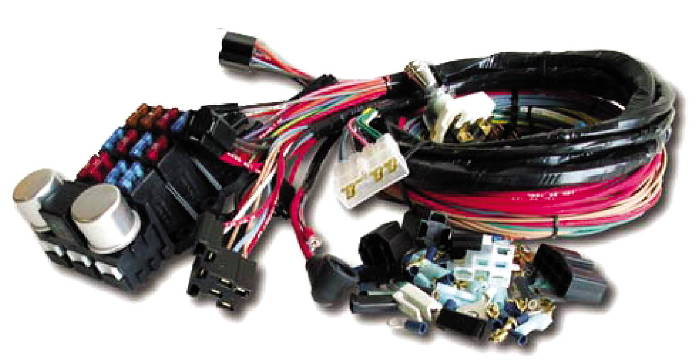 Street Rod Parts  U00bb Wiring Harness  Retro Series Wiring System For Gm Engines