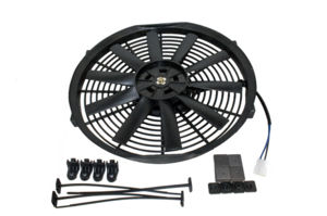"Radiator Electric Fan, 14"" Push Or Pull, 12v, Straight Blade 1590 CFM. Draws 9.8 Amps Photo Main"
