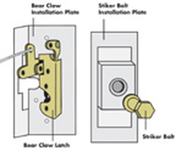 Door Latch Install Kit - Bear Claw Small Photo Main