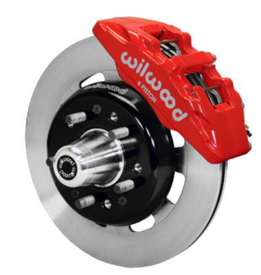 "Wilwood Forged Dynalite Pro Series Front Brake Kit 12.19"" Rotor Red Caliper 55-57 Chevy Car Photo Main"