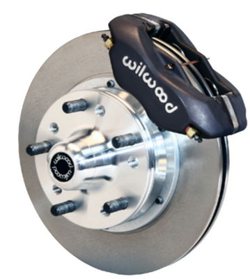 "Wilwood Forged Dynalite Pro Series Front Brake Kit 11"" Rotor Black Caliper 37-48 Ford Passenger Car Spindle Photo Main"