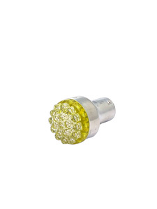 Bulb -LED Super Bright Bulb Amber Color 6v Replaces #1156 Single Contact (Straight Pins) Photo Main