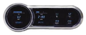 Dakota Digital - VHX System With Black Alloy Style Face and Red Backlight - Six Gauges Including Tach Photo Main