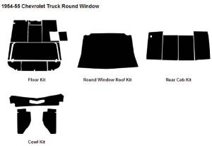 Sound Deadener/ Insulation Kit. 1954-55 (1st Series) Truck AcoustiShield Kit Photo Main