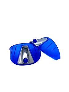 "Headlight Visor - 7"", Blue Acrylic Photo Main"