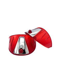"Headlight Visor - 7"", Red Acrylic Photo Main"