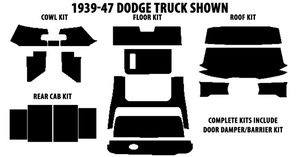 1939-1947 Dodge Truck Complete AcoustiShield Kit Photo Main