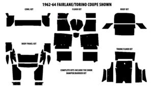 1963-1964 Ford Convertible Complete AcoustiShield Kit Photo Main