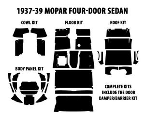 1955-56 Mopar Sedan Complete AcoustiShield Kit Photo Main