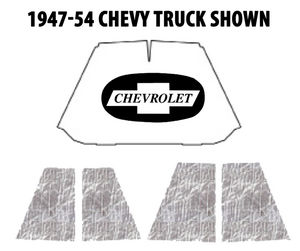 1955-59 Chevrolet Truck Under Hood Cover with CEID-305 AcoustiHood Kit  Photo Main