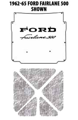 1957 Ford Under Hood Cover with FEIDC-390 Photo Main