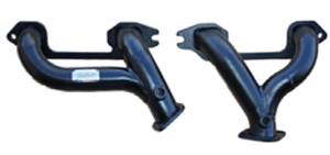 Headers, Tube -Fits 216ci, 235ci & 261ci Chevy 6 Cylinder. Black Painted Finish With Flanges Photo Main