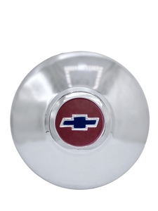 Hub Cap -Modified For Rally Wheels, Red Center With Blue Bowtie Photo Main