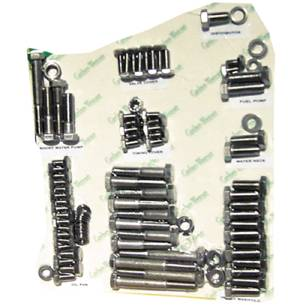 Engine Bolt Kit - Chevy Small Block With Standard Exhaust Bolts - Hex Bolts, Polished Stainless Photo Main