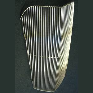 "Grille. Billet Aluminum With Narrow Spacing (1/4""). Polished Bars (Face Only) Photo Main"