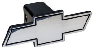 Chev Bowtie Trailer Hitch Cover - Aluminum Photo Main