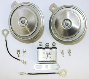 Horns With Relay - Pair, 12 Volt Photo Main