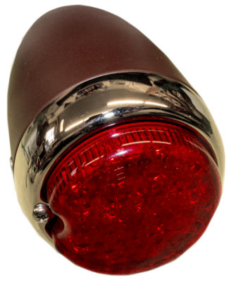 "Led Tail Light Assembly Left (3"" Round) Primered Housing. Red 12 Volt Photo Main"
