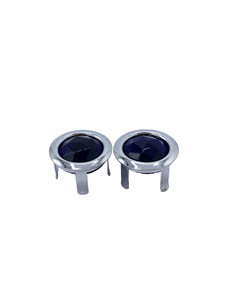 Lens Blue Dots With Chrome Ring (You Install) Photo Main