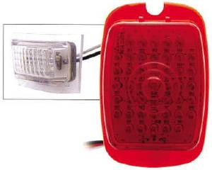 Tail Light Lens, LED - (Red Lens) Left Side With Led License Light 12 Volt Photo Main
