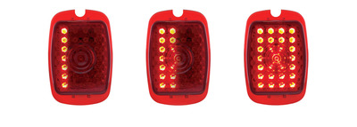 Tail Light Lens, LED - (Red Lens) Sequential Right Side 12 Volt Photo Main