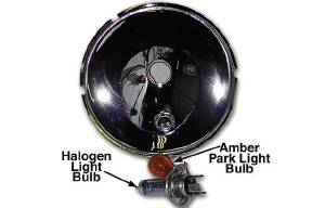 Reflector - 12v Blue Halogen Headlight & Amber Park Light Photo Main
