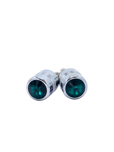 License Plate Fastener-Green Diamond Photo Main