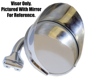 Mirror- Stainless Steel Mirror Visor Cover Fits All 4'' Round Peep Mirrors Photo Main