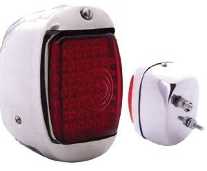Tail Light LED Assembly -Right Side, Chrome Housing 12 Volt Photo Main