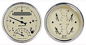 "Instrument Gauges - Auto Meter Antique Beige Series, 3-3/8"" Speedo Tach Combo & Quad Gauge Set Photo Main"