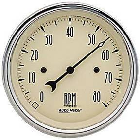 "Instrument Gauges - Auto Meter Antique Beige Series, 3-3/8"" Tach Photo Main"
